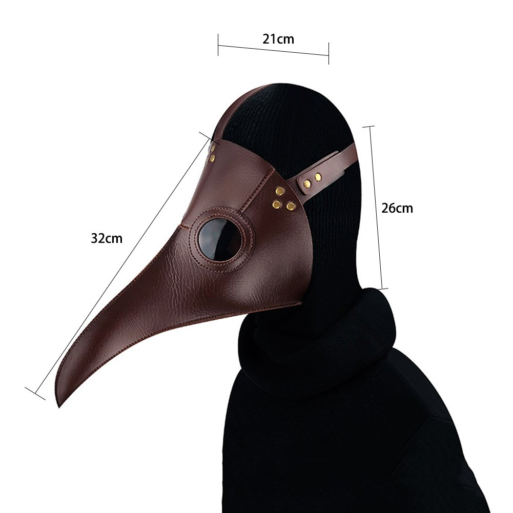 sweetyhomes Steam Punk Mask Halloween Plague Long Birds Doctor Prom Mask Cosplay Props