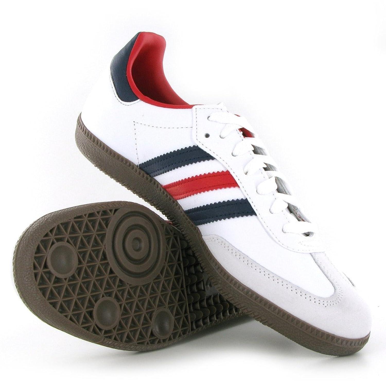 adidas samba white red