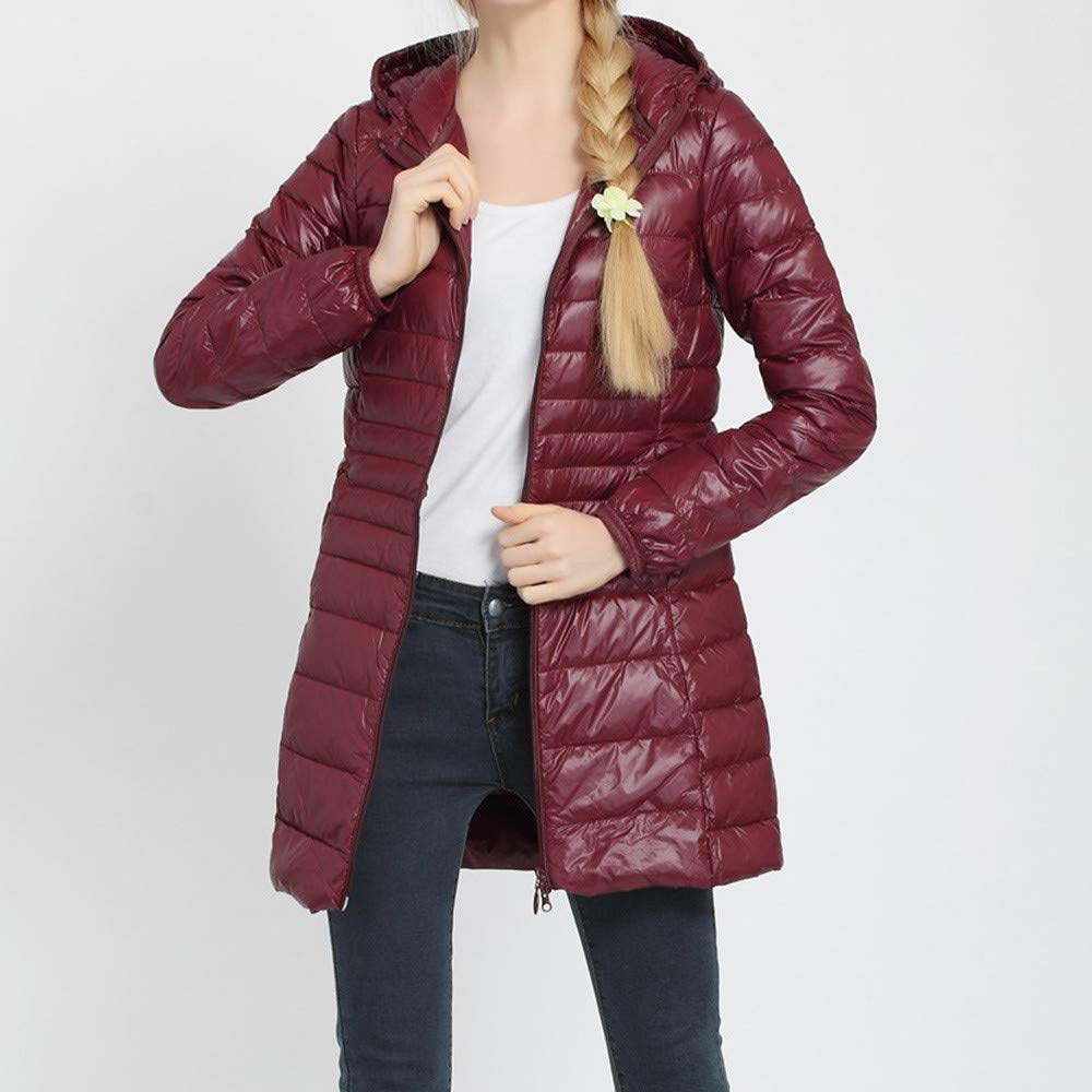 38eedb67824 ... Womens Winter Plus Size Coat Duseedik Keep Warm Overcoat Thin Down  Jacket Outwear Overcoat Oversize Duseedik ...