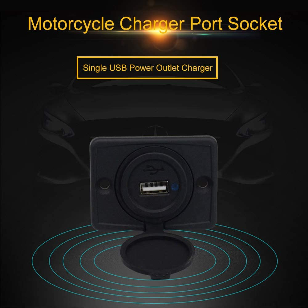 12-24V 3.1A Motorcycle Car USB Power Outlet Charger Port Socket Adapter Dual USB Port