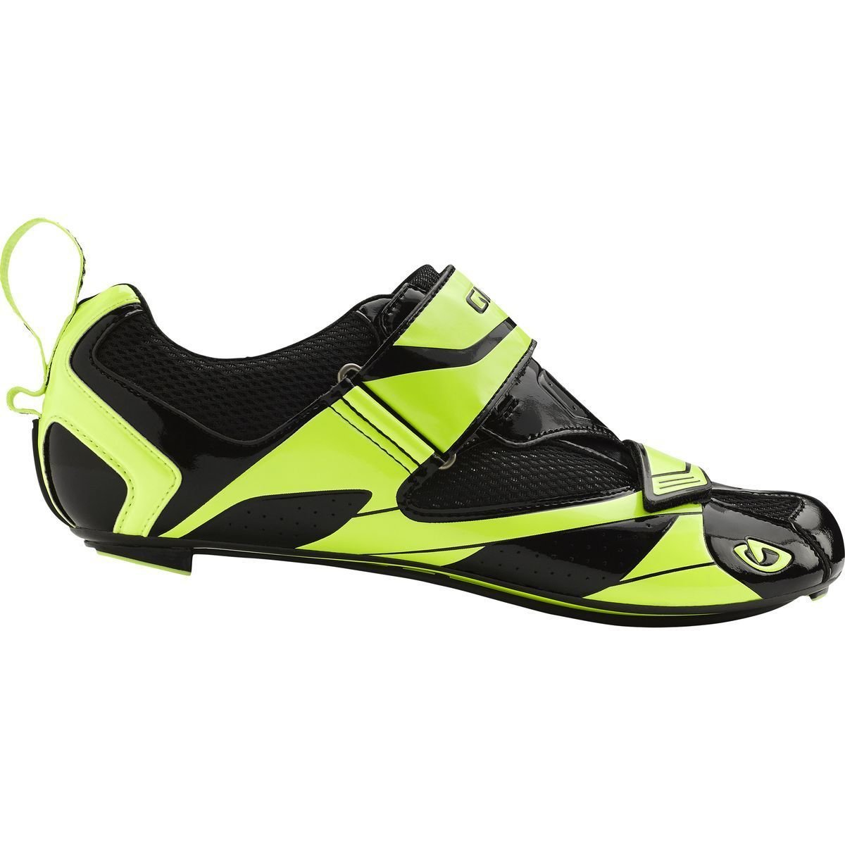 Giro GF20180 Mens Mele Tri Road Shoes, Blk/Hi Yel - 39 by Giro