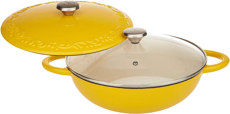 Valerie Bertinelli 4qt Lightweight Cast Iron Chef S Pot Model K46650 Amazon Ca Home Kitchen