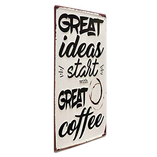Photolini Cartel de Chapa Great Coffee 30x40 cm Cartel de ...