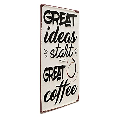 Photolini Cartel de Chapa Great Coffee 30x40 cm Cartel de ...