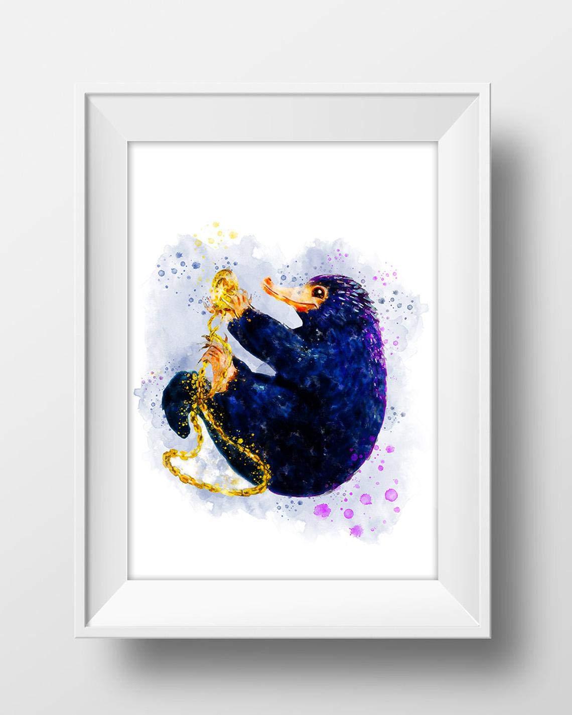 Fantastic Beasts Watercolour Print