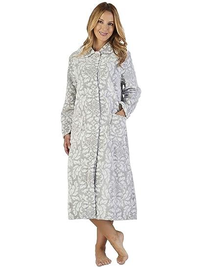 Slenderella HC2350 Women s Luxury Fleece Motif Robe Loungewear Bath Dressing  Gown  Slenderella  Amazon.co.uk  Clothing 3c9ee7572