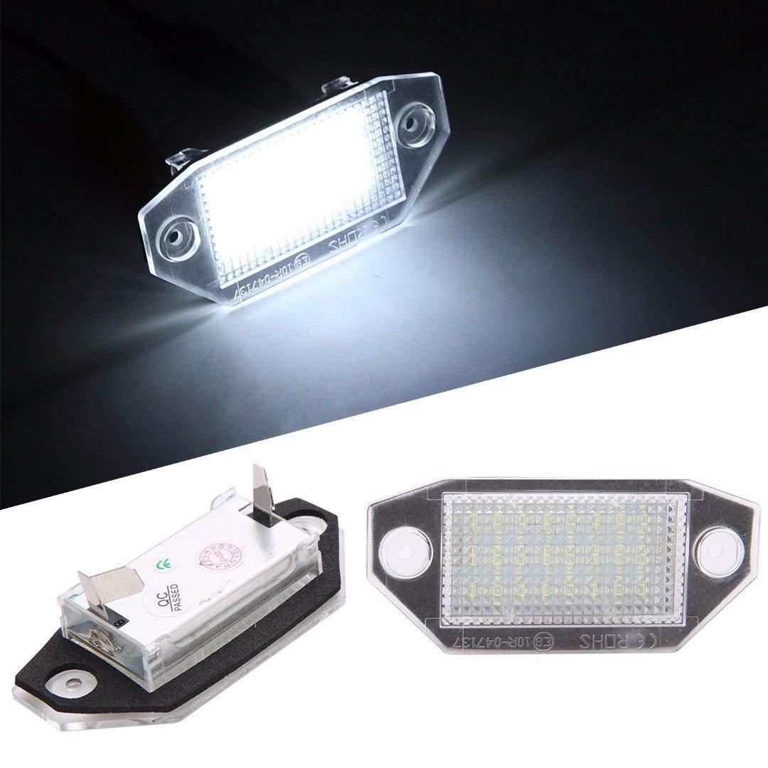 baozhisu Pack of 2Pcs White 24-LED License Plate Lights For Ford Mondeo MK3 2000-2007