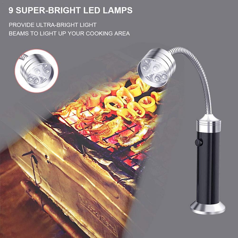 luminiu LED Luz de Barbacoa,Parrilla magn/ética para Barbacoa con luz para Interior Oficina al Aire Libre Uso Multiusos Resistente al Calor, al Agua y a la intemper