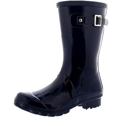 Womens Original Short Gloss Garden Winter Rain Waterproof Wellie Boots