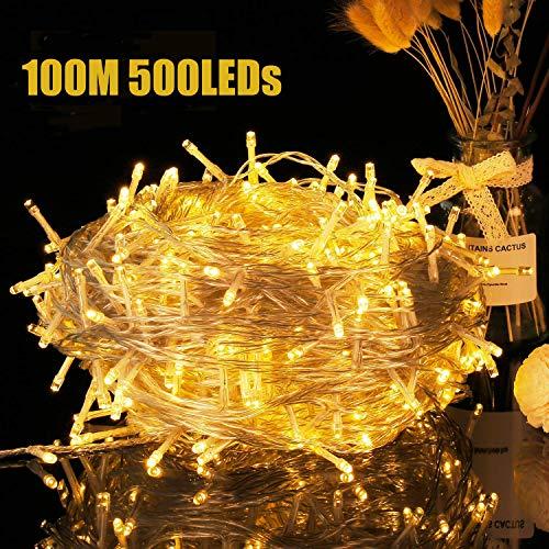 Avoalre 1000 LED's 100M lichtketting kerstverlichting lichtketting buiten met 8 modi en geheugenfunctie, lichtketting…
