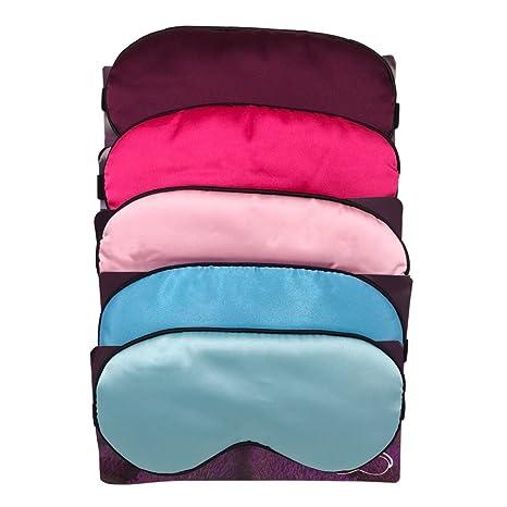 zhouzhouji Máscara de Dormir,Antifaz para Dormir,100% Anti-Luz Opaco Cómoda Agradable para la Piel Tela de Seda Natural Puro y Puros de algodón Máscara para ...