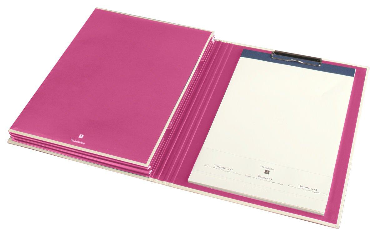 Porte-Folio avec 3 poches rose +++ CLASSEUR CLASSEUR CLASSEUR +++ qualité originale Semikolon 5f7737