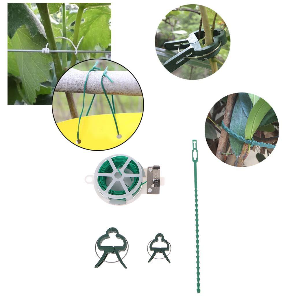 Guoyy 31pcs Usine Clips de Fil de Liaison de liant Kit Outils de greffage Accessoires de Jardinage