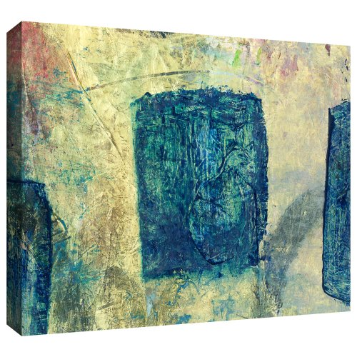 ArtWall 'Blue Golds' Gallery-Wrapped Canvas Art by Elena Ray, 12 by 24-Inch