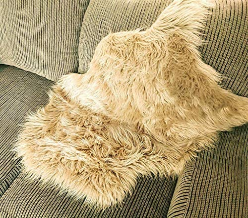 Soft Faux Sheepskin Lamb Fur Chair Cover