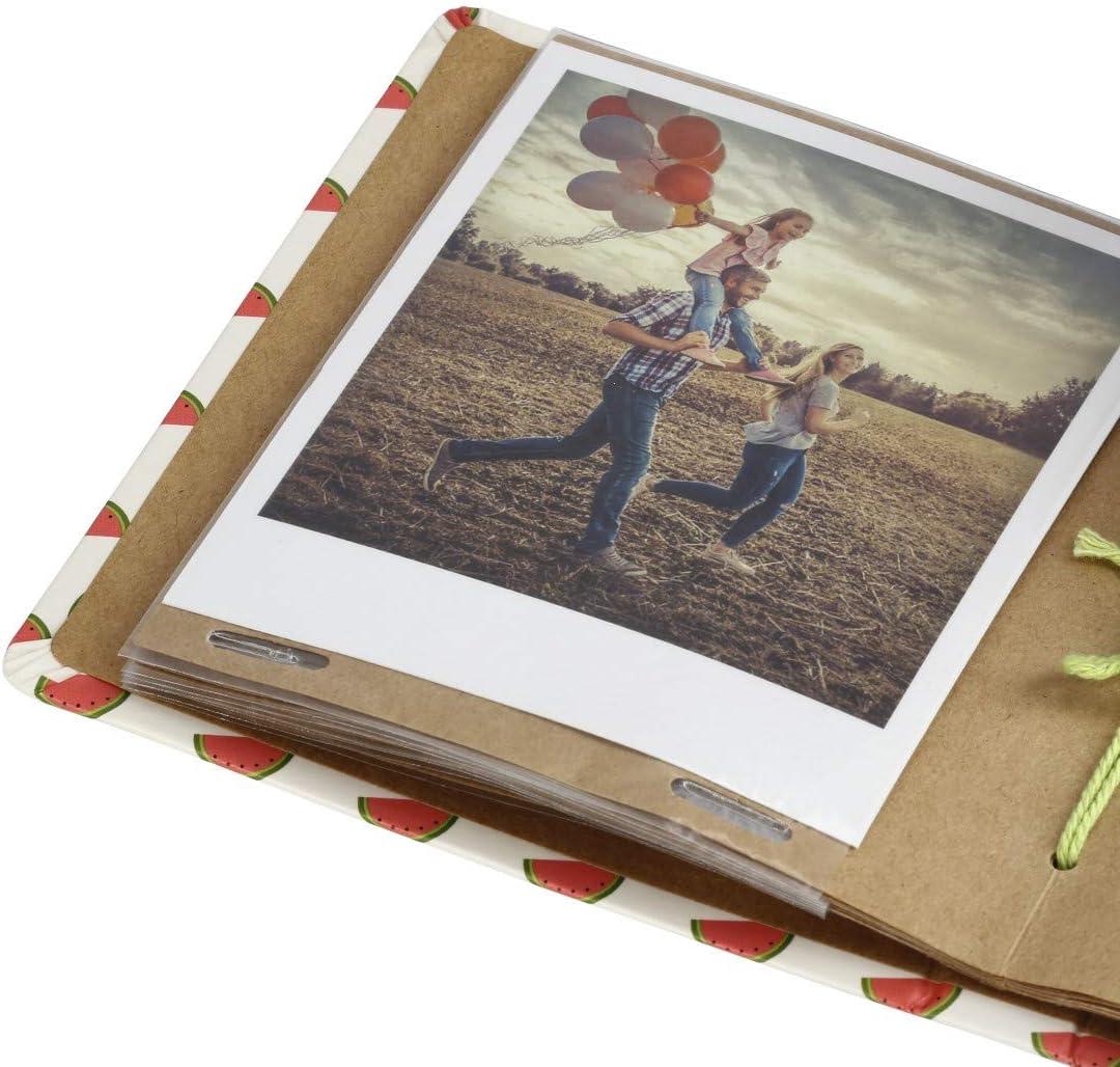 Einsteckalbum f/ür 28 Sofortbilder, Album zum selbstgestalten pastell Hama Polaroid Fotoalbum f/ür Instax Mini