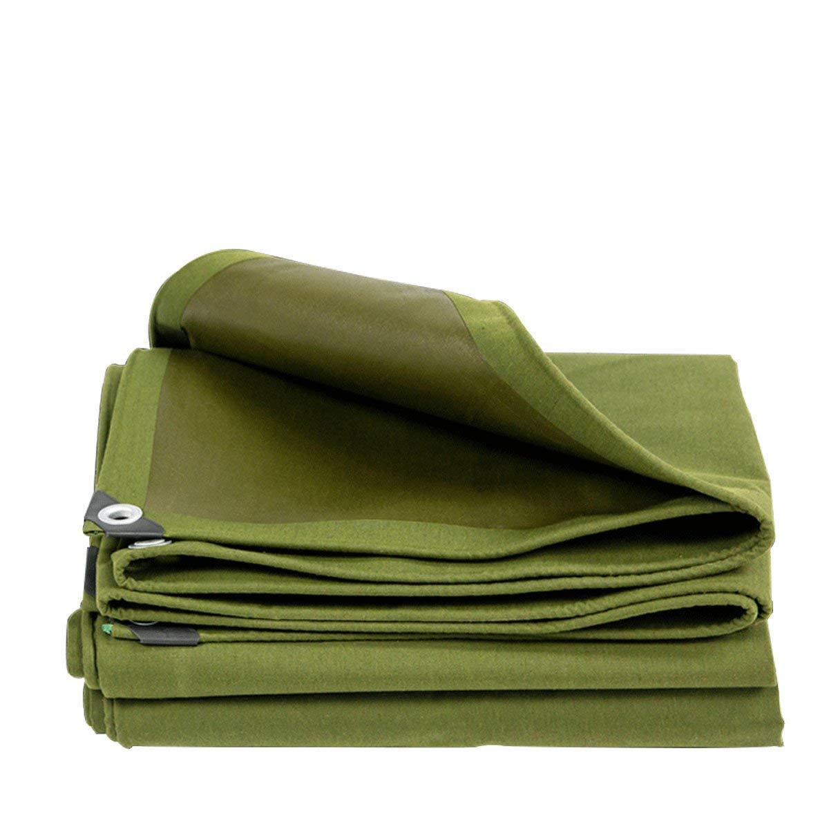 ZHhome Tarpaulin, Telo Impermeabile Resistente, Adatto per la Copertura di Oggetti, Decorazione del Giardino, Campeggio all'aperto, Tenda da Campo, opzioni Multi-Dimensione, verde (Dimensioni   3  3M)