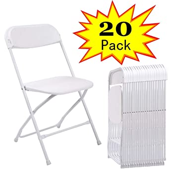 Amazon.com: jaxpety comercial plegable de plástico sillas ...