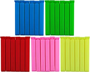 DLOline 30 Pack Bag Sealing Clips,Clips for Bags Snap Closure Bag Sealer,Snacks Sealing Clips,Sealing Clips for Chip Bags and Kitchen Food Storage Bags Bag Sealer,Kitchen Storage,Food Storage