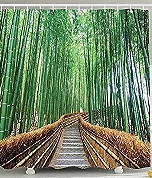 Coloré Douche Arbre De Pont Sur Decor Wildlife Tropical Rideau n0wPk8NOX