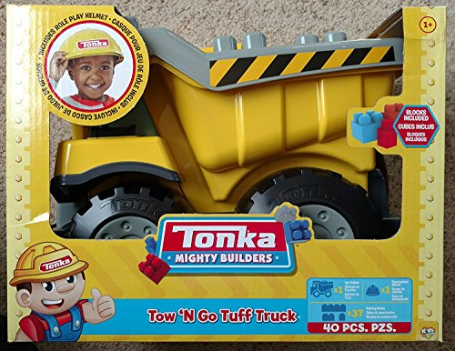 Tonka Mighty Builders Tow 'N Go Tuff Truck 40 Piece Set (Tonka Toy Dump Truck)