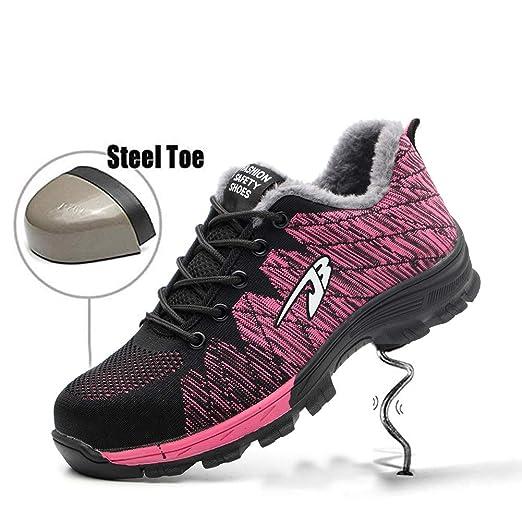 SHYTX Zapatos de Seguridad para Hombre con Puntera de Acero ...