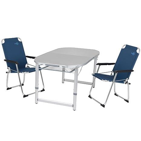 Tavoli E Sedie Da Camper.Alluminio Camping Tavolo Con 2 Sedie Falts Per La Famiglia Un