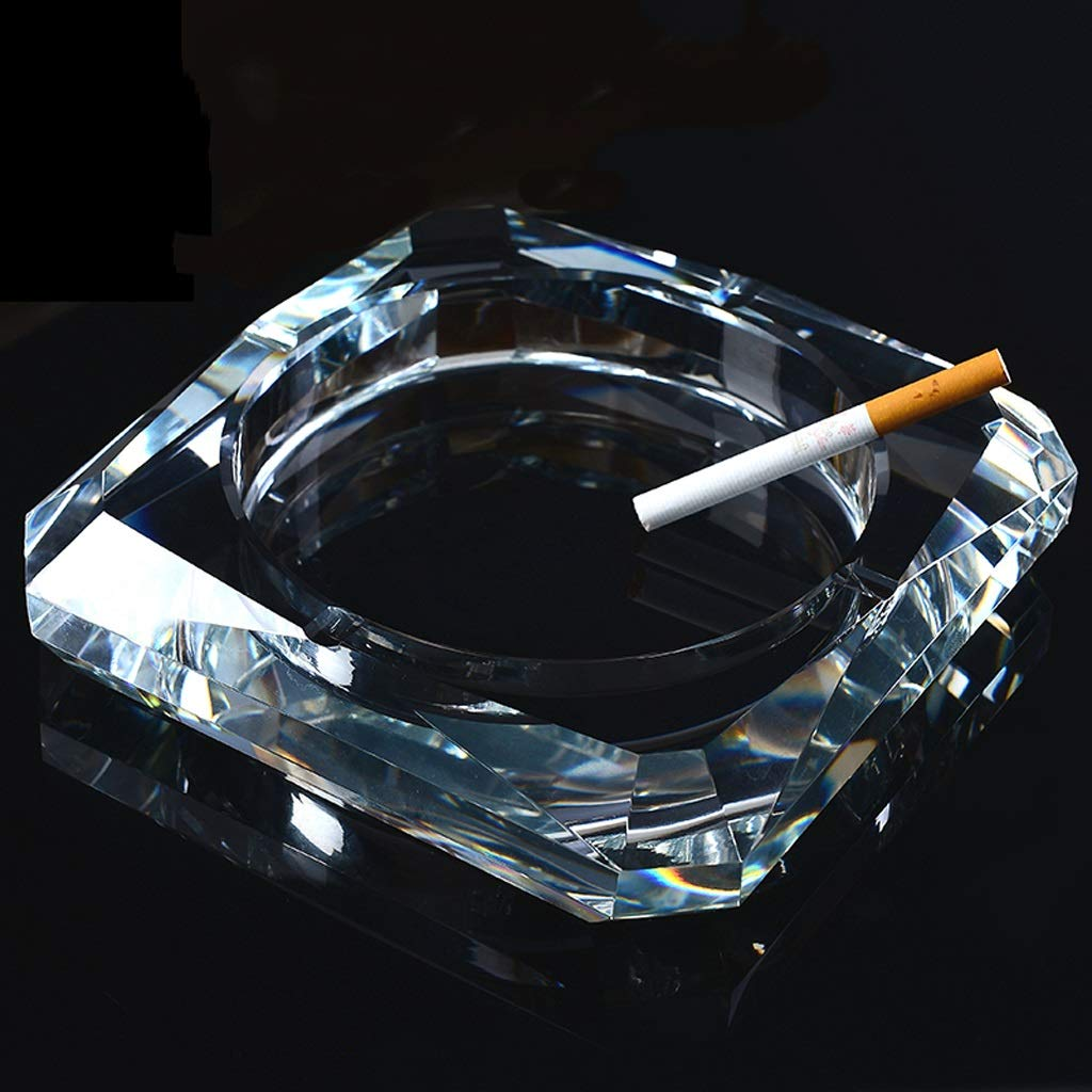 MXD クリスタル灰皿で灰皿クリエイティブ実用的なファッションヨーロッパスタイルの灰皿は透明   B07KT314SR