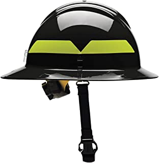 Fire Helmet, Black, Thermoplastic