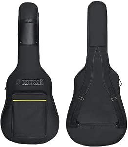 "Wuudi 41"" Bolsa de guitarra,funda de guitarra impermeable, con ..."