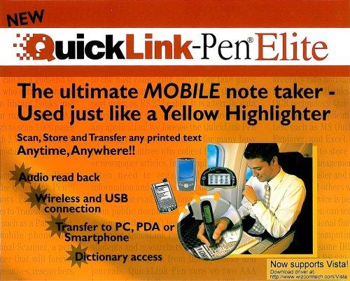 WizCom E04087 QuickLink-Pen Elite Scanner