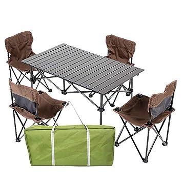 Mesa plegable y silla Leqi Mesa y silla de barbacoa portátil Mesa ...