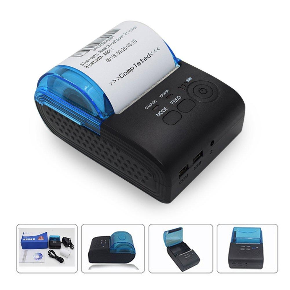 Edal ZJ-5805 58mm Bluetooth receipt printer Mini Bluetooth Printer Thermal Receipt Printer for iOS and Android Systems TERMINALS POS Machine Boiler Thermal printer