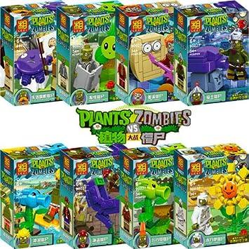 Lote de 8 Personajes Estilo Plants vs Zombies: Amazon.es: Juguetes ...