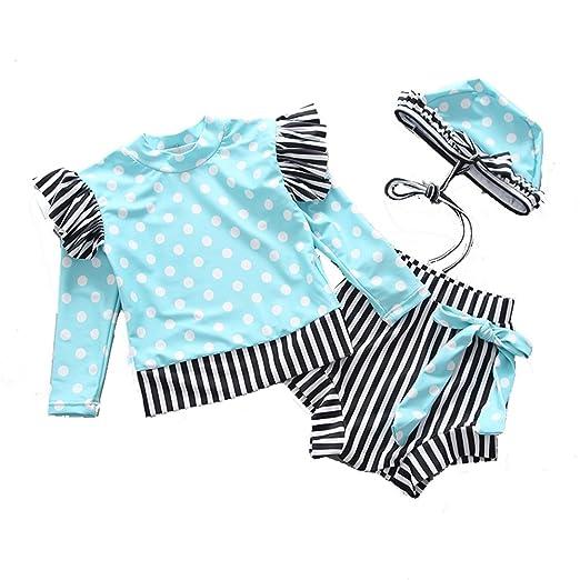 Chlyuan-sp Bikinis de niña pequeña de Dos Piezas Traje de baño ...