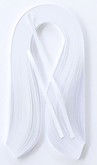 100 Streifen Weiß Quilling Papier 5mm