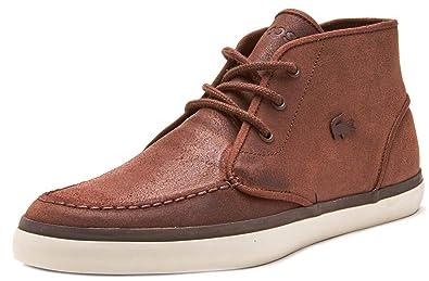 3e99786950e504 Lacoste Sevrin Mid 416 1 CAM Leather Chukka Boots in Brown 732CAM0034 078