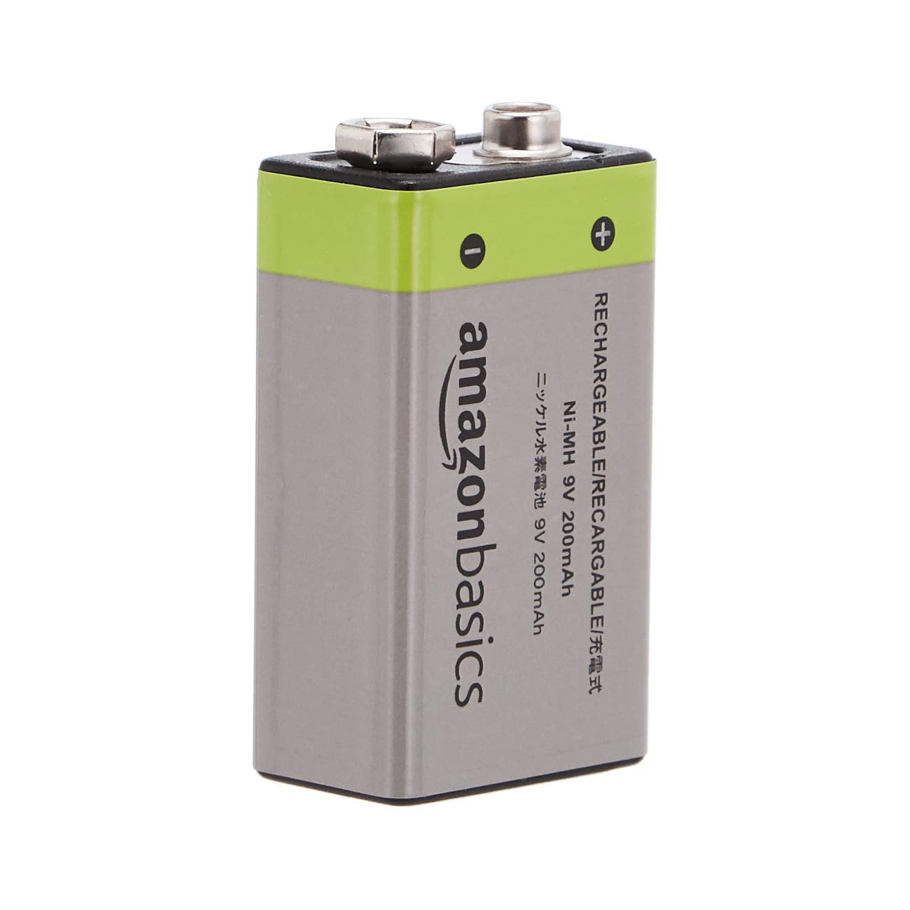 AmazonBasics 9V Cell Rechargeable Batteries 200mAh Ni-MH, 4-Pack by AmazonBasics