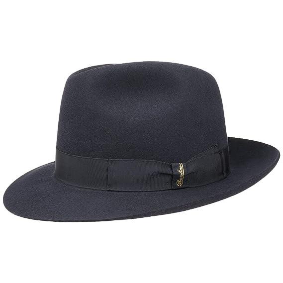 5c5c0f4f2b7 Borsalino Marengo Fur Felt Bogart Hat felt hat wool hat (57 cm - blue)   Amazon.co.uk  Clothing