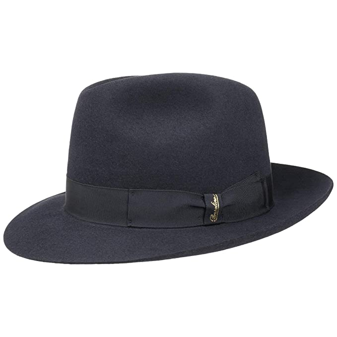 Cappello Bogart Marengo Borsalino cappello di feltro cappello in lana 55 cm  - blu 2c3e995b37d8