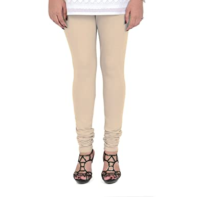 dad56bab91463 Vami Cotton Churidaar Leggings for Women in Perfect Skin: Amazon.in ...