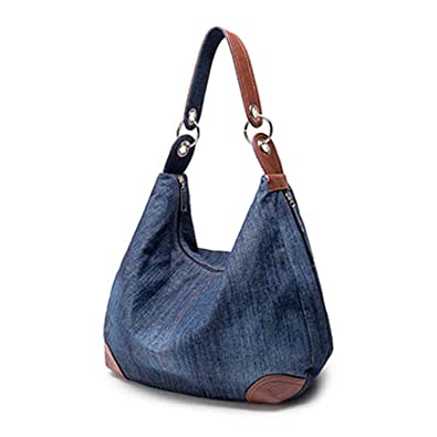 Amazon.com  Large Luxury Handbags Women Bag Designer Ladies Hand Bags Big  Purses Jean Denim Tote Crossbody Women Shoulder Bags  Shoes 489067e642e54