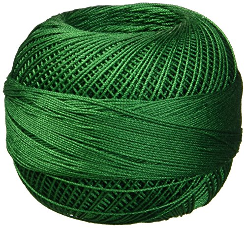 Handy Hands Lizbeth Egyptian Cotton Crochet Thread, Tatting Thread, and Knitting Thread Lace Size 20 (25 Grams 210 Yards) - HH20638 (Christmas Green) ()