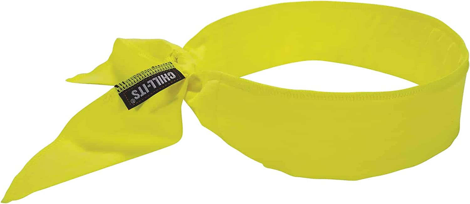 Ergodyne Chill-Its 6702 Cooling Bandana, Evaporative Polymer Embedded Material for Cooling Relief