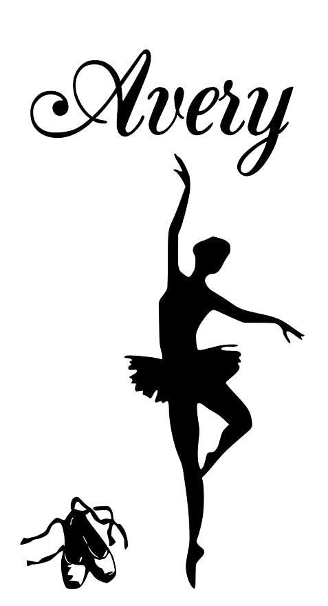 Amazon com: Ballerina Avery name letters childrens room VINYL WALL