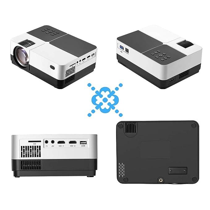 TOPRUI Mini Proyector Cine en Casa LCD 3000 LúMenes, Pantalla Grande Soporta1080P Full HD, Proyector PortáTil LED Home Cinema Soporte / USB / HDMI / VGA ...