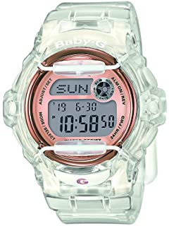 140be3de5a893 BABY-G Women s Quartz Watch with Grey Dial Digital Display and White Resin  Strap BG
