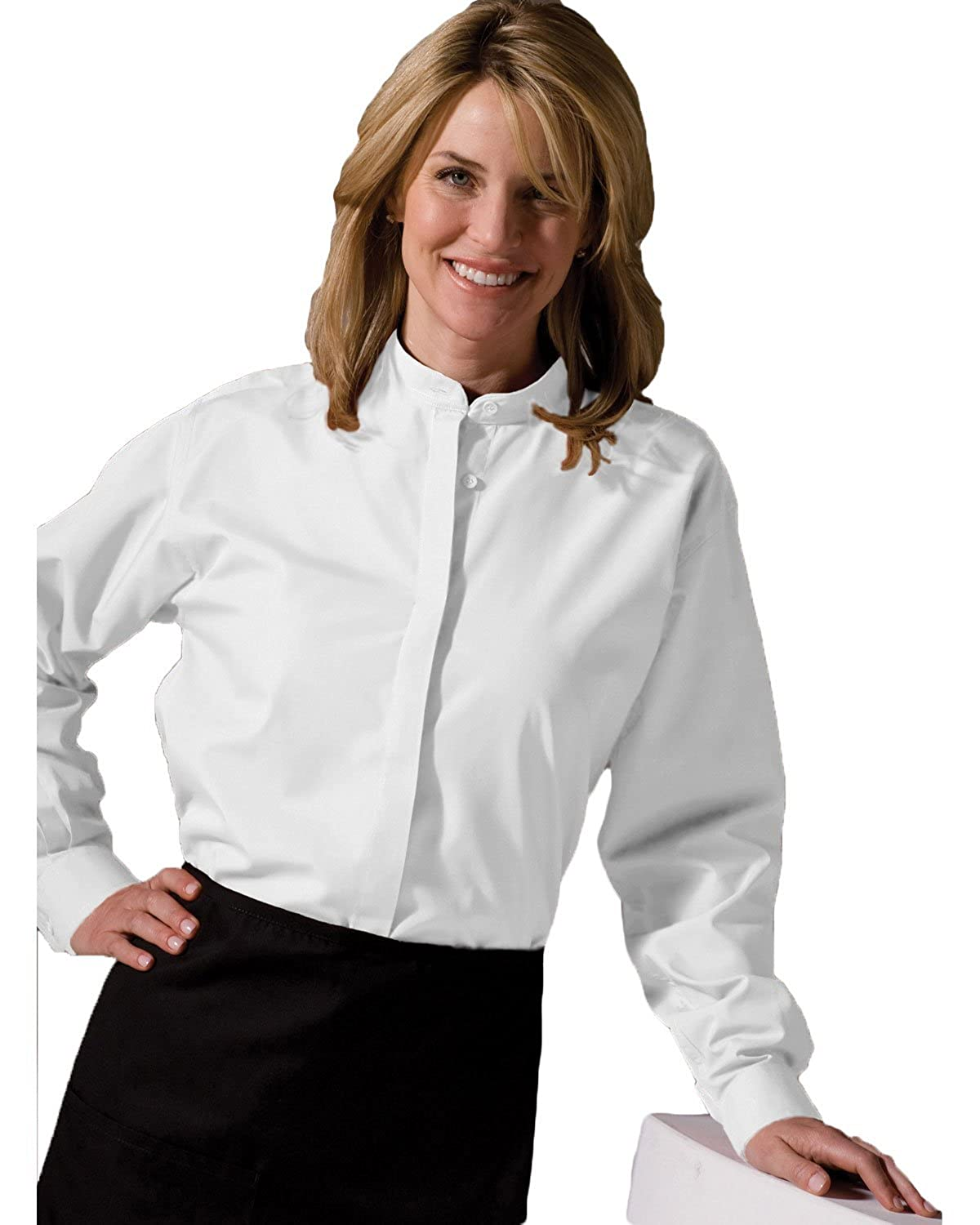 Womens Banded Collar Shirt At Amazon Womens Clothing Store Button