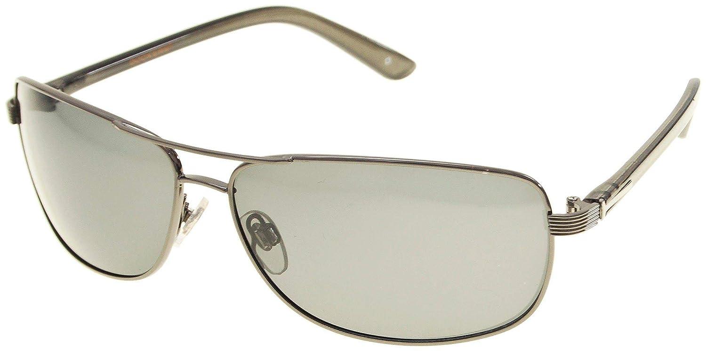 845ebb05a11df Dockers Mens Polarized Aviator Sunglasses One Size Gun metal grey   Amazon.ca  Clothing   Accessories