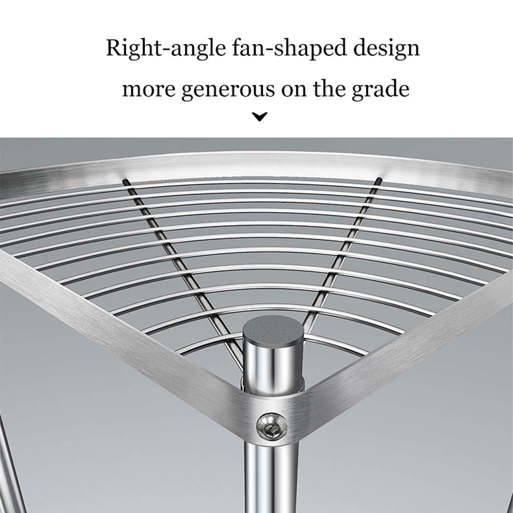 304 Acero Inoxidable Tri/ángulo de Cocina de m/últiples Capas Pot Rack Rack Almacenamiento WLHW Fruteros Tipo de Suelo de estanter/ía